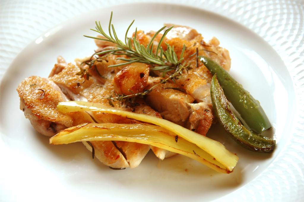自然野菜を使った料理