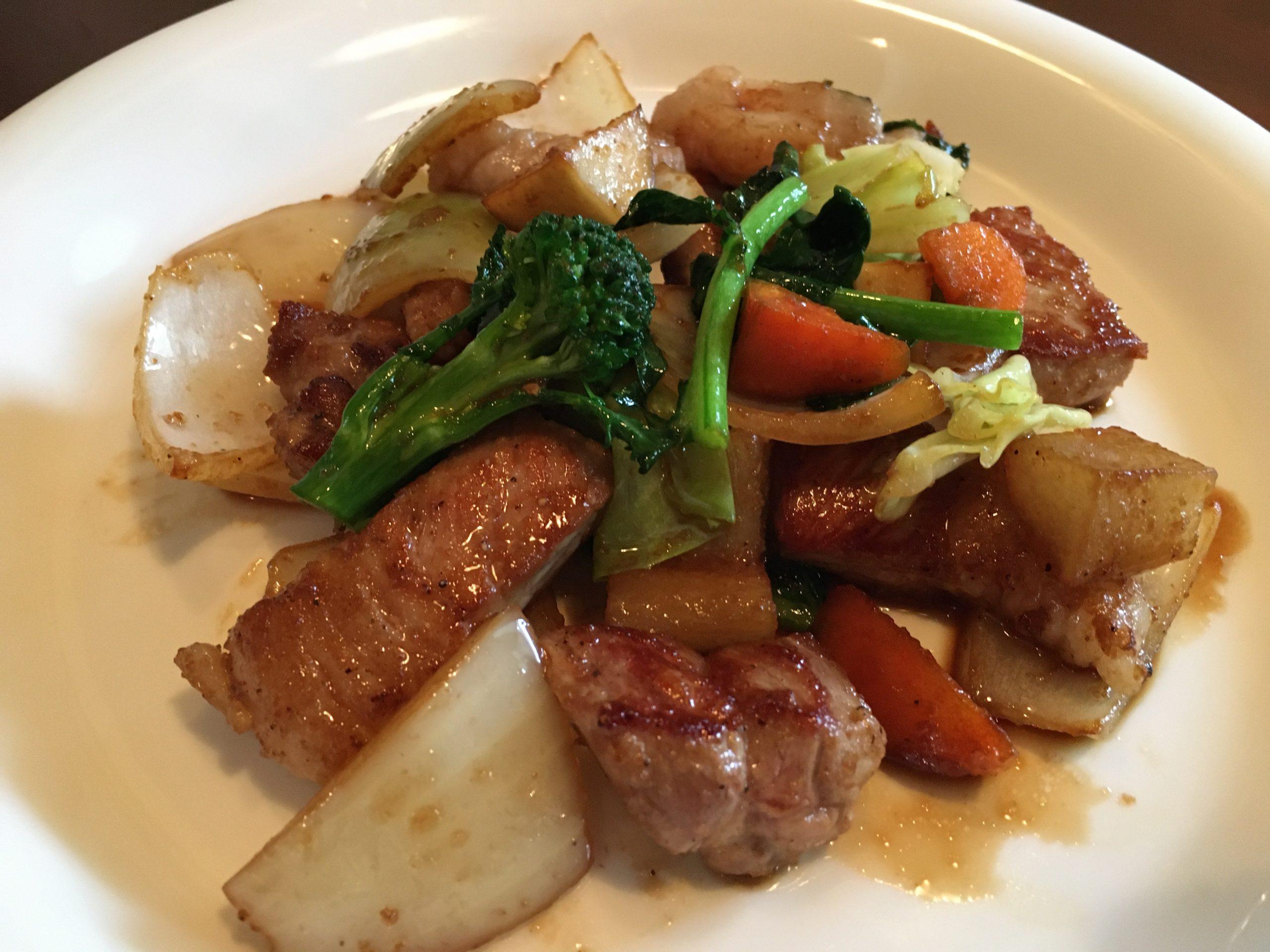 元気野菜のポーク生姜焼き