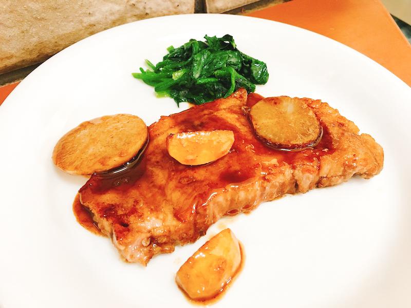 豚ロース肉のバルサミコソース