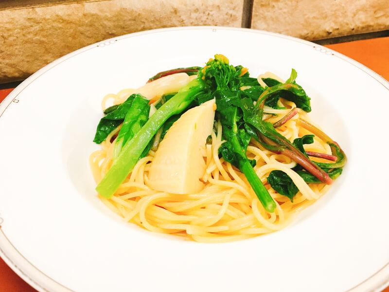 英信さんの筍と春野菜のパスタ